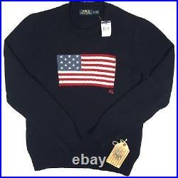 NEW Polo Ralph Lauren Big & Tall Sweater! 3XLT Huge US Flag RARE USA Made