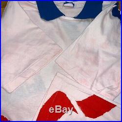 NIKE John McEnroe American USA flag Polo VINTAGE Tennis Shirt Men Large Rare