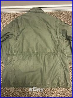 NWT Mens Ralph Lauren Polo USA American Military Field Jacket Olive Green Large