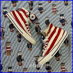 NWT VTG Converse All Star American Flag High Top Shoes Men US 10.5 MADE IN USA