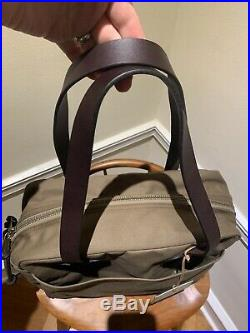 New! $225 RARE Sepia Brown Filson Rugged Twill Tote With Zipper bag. Made In USA