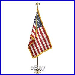 New! 3x5 U. S. American Indoor Flag Pole Parade Set/Kit