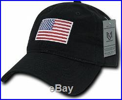 New Black USA American Flag Baseball Cap Relaxed Polo Type Cap Hat With Graphics