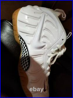 Nike Air Foamposite Pro 624041-102 Winter White/Gym Red/Gorge Green Size 8.5