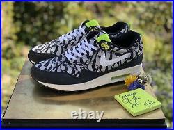 Nike Air Max 1 Liberty Black/White/Neon Uk9.5 US12 Supreme Jordan OffWhite