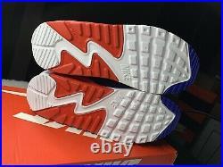Nike Air Max 90 GS USA FLAG 95 97 RED WHITE BLUE DA9022-100 sz 5Y / Women's 6.5