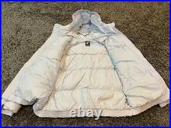 Nike Gray metallic Gold down feather jacket coat hooded L rare LA Lakers Lebron