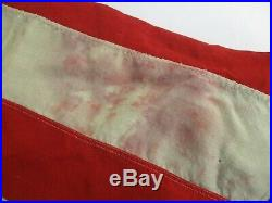 OLD LARGE WOOL USA UNITED STATES AMERICAN FLAG with 48 SEWN STARS 54 X 92