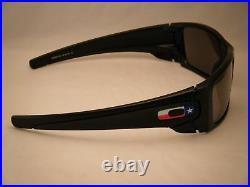 Oakley Fuel Cell Matte Black w TX Flag w Black Iridium Lens (oo9096-J1)