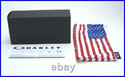 Oakley SI Holbrook OO9102-E655 Sunglasses USA Flag Matt Black/Grey