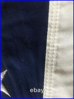 Old Vtg American Flag Bulldog Bunting Embroidered 50 Stars 5 X 91/2 -USA