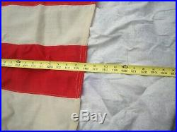 Original 44 Star U. S. Flag 10' x 6' circa 1891-1895 Wyoming 7-7-8-7-8-7 star row