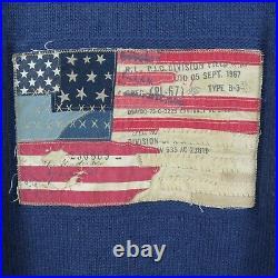POLO JEANS RALPH LAUREN Mens Blue Iconic USA Flag Wool Alpaca Jumper SIZE Medium