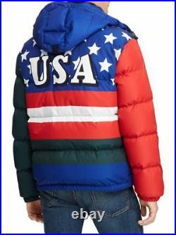 POLO RALPH LAUREN 92 down puffer jacket retro suicide skier USA cookie XL NWT