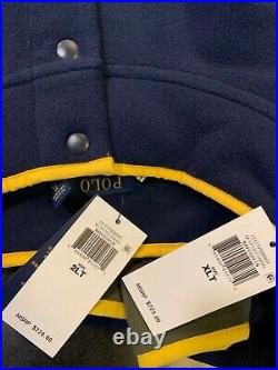 POLO RALPH LAUREN Men's Jacket Navy Green Camo Sportsman Fleece Pullover XL 2XL