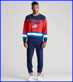POLO RALPH LAUREN Men's Logo America Flag Pullover Sweatshirts NEW NWT $148