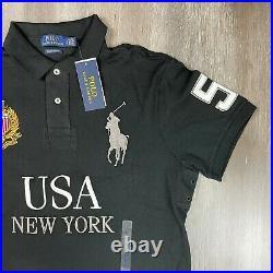 POLO RALPH LAUREN Mens Big Pony USA New York Shirt Size Large Custom Slim Fit