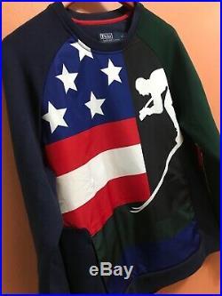 POLO Ralph Lauren Men Downhill Suicide Skier 92 Ski Sweater Sweatshirt Cookie M