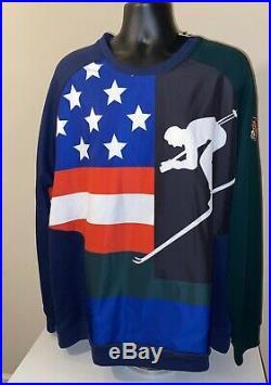 POLO Ralph Lauren Men Downhill Suicide Skier 92 Ski Sweater Sweatshirt XXL Retro