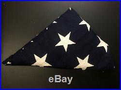 PRISTINE Antique Vintage WWII-Era 1940's USA Flag with 48 Stars 5' x 9.5