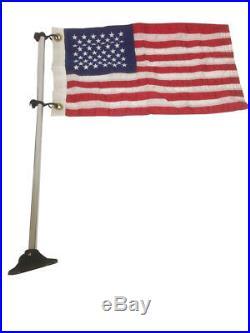 Pactrade Marine Pontoon Flag Pole Socket American USA Flag 24 Long Adjustable