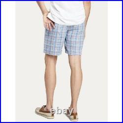 Peter Millar Seaside Madras Plaid 100% Linen Men's Shorts Size 40 NEW Summer
