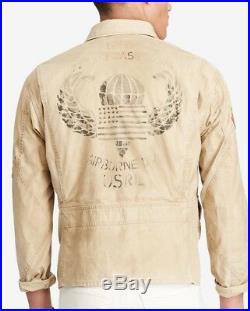 Polo Ralph Lauren 772 USA American flag patch Coat jacket military USRL 67 XL