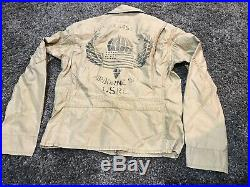 Polo Ralph Lauren 772 USA American flag patch pea coat jacket military USRL 67 S