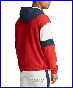 Polo Ralph Lauren American Flag USA 1967 Colorblocked Pullover Sweatshirt Hoodie