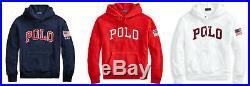 Polo Ralph Lauren American USA Flag Fleece Sweatshirt Hoodie New $148
