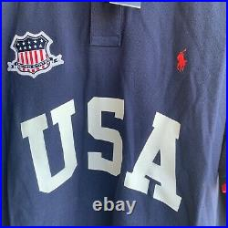 Polo Ralph Lauren Classic Fit USA Polo Shirt Red White Blue Olympics Size XXL