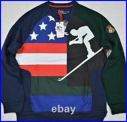Polo Ralph Lauren Cookie Patch Suicide Ski Sweatshirt Hi Tech CP93 M NWT $298
