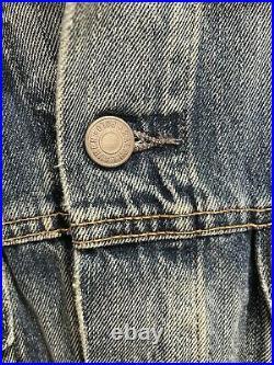 Polo Ralph Lauren Denim Jacket American Flag- Sz Large Blue LIMITED EDITION