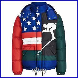 Polo Ralph Lauren Down Hill American USA Flag CP 93 Stadium SKI Down Jacket M