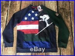 Polo Ralph Lauren Downhill Skier 92' USA Flag Sweatshirt Mens Large