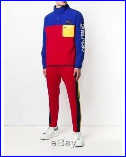 Polo Ralph Lauren Hi Tech CP 93 USA American Flag Fleece Sweatshirt Pullover XL