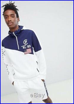 Polo Ralph Lauren Men American Flag Colorblocked CP 93 Pullover Hoodie Hi Tech