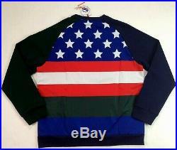 Polo Ralph Lauren Men Downhill Skier 92 American Flag Sweater Sweatshirts Cookie