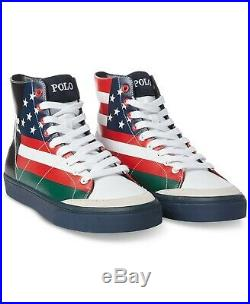 Polo Ralph Lauren Men U. S American Flag Ski 92 Skier Downhill Sneakers 8.5,9,11