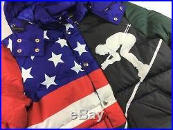 Polo Ralph Lauren Men USA American Flag Ski 92 Cookie Down Hill Down Jacket