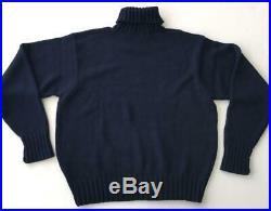 Polo Ralph Lauren Mens Blue XL USA American Flag Turtleneck Sweater Pullover