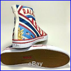Polo Ralph Lauren Mens Solomon II Chariots of Fire Size 12 USA Flag