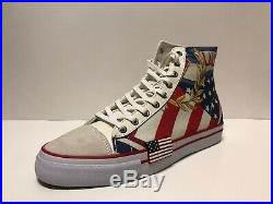 Polo Ralph Lauren Mens Solomon II Chariots of Fire Sneakers Size 11 USA Flag
