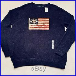 Polo Ralph Lauren Mens Sweater Our Banner of Glory American Flag USA Eagle XXL