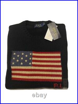 Polo Ralph Lauren Mens The Iconic Flag Sweater Jumper Made in USA Cotton M