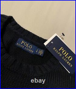 Polo Ralph Lauren Mens The Iconic Flag Sweater Jumper Made in USA Cotton S