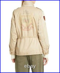 Polo Ralph Lauren Military Army American Flag Royal Heraldic Patch Field Jacket