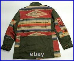 Polo Ralph Lauren Military Army Repair Patchwork Southwestern Aztec Field Jacket