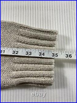 Polo Ralph Lauren RL-67 USA American Flag Mock Neck Knit Sweater Beige Mens XXL