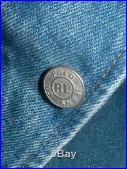 Polo Ralph Lauren RL Denim Flag Jean Jacket mens Size XL vintage Patriotic USA